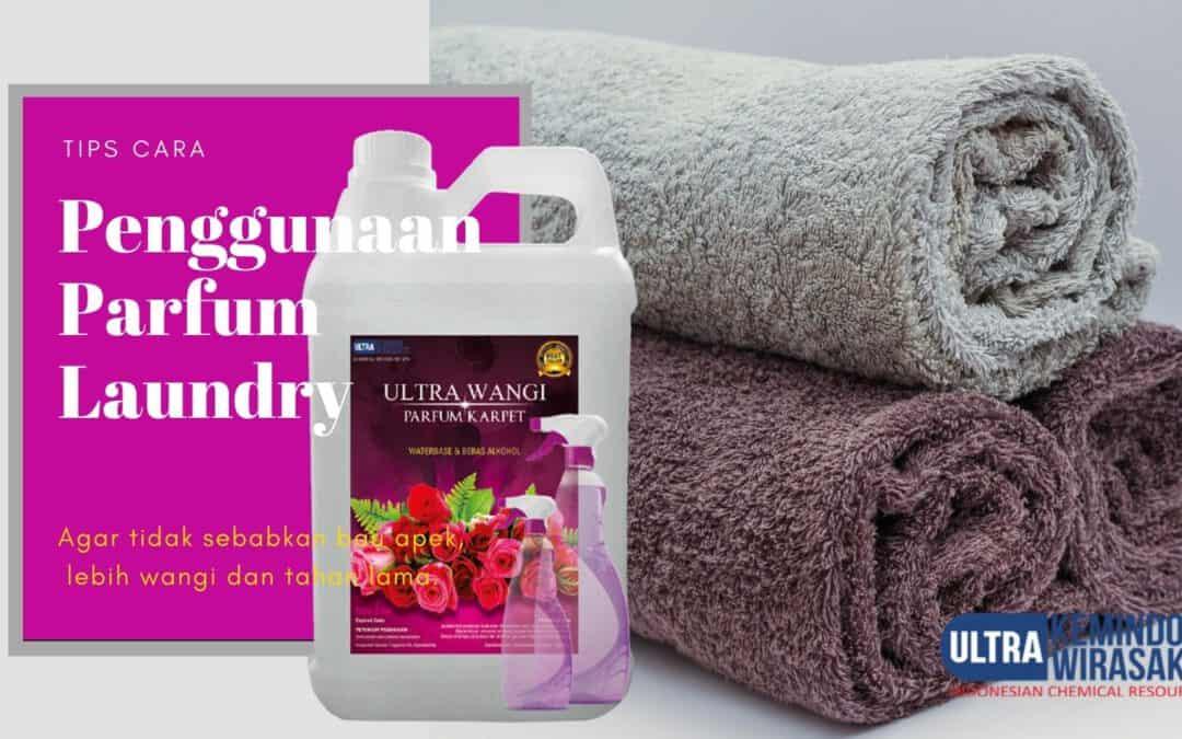 cara menggunakan parfum laundry
